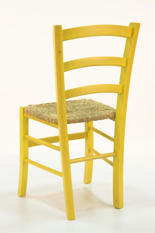 110 sedia rustica in legno diverse tinte disponibili for Sedia ufficio gialla
