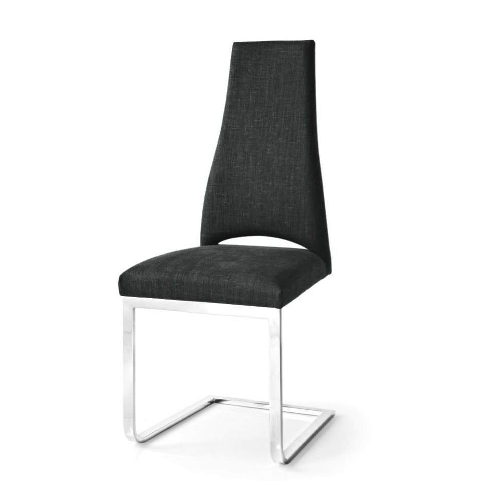 cs1380 juliet b stuhl calligaris aus metall mit bezug aus stoff in schwarz sediarreda. Black Bedroom Furniture Sets. Home Design Ideas