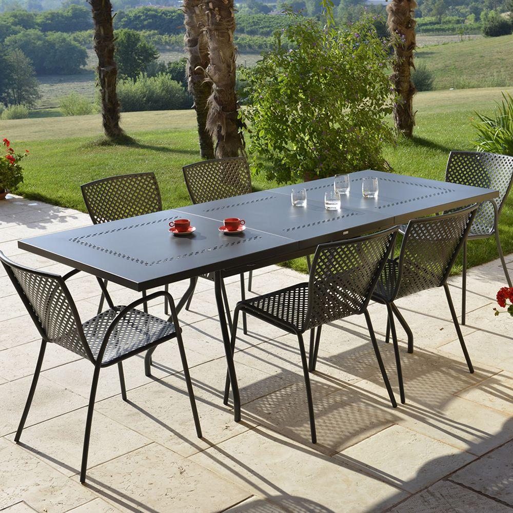 rig70 tavolo in metallo allungabile per giardino