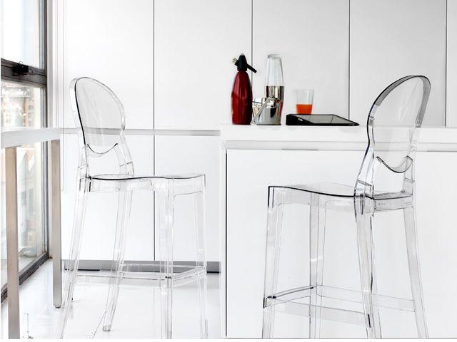 Igloo s 2358 sgabello in policarbonato altezza seduta a for Sgabelli impilabili