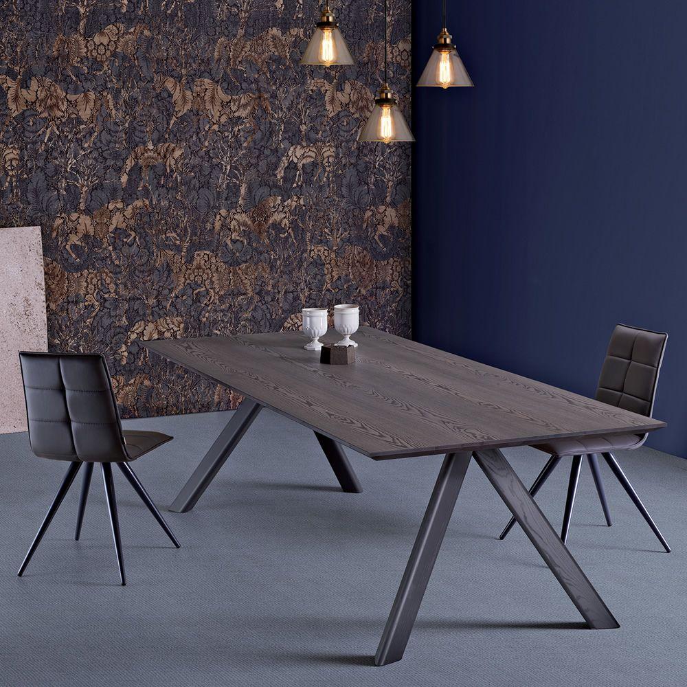 Fox moderner holztisch mit geformte platte aus holz in verschiedenen gr en verf gbar sediarreda - Holztisch mit stuhlen ...