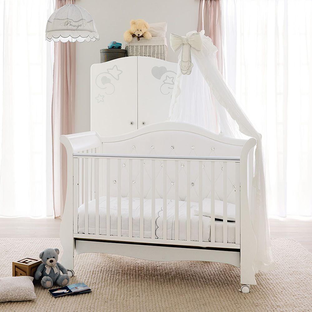 prestige vittoria babybett sofa pali aus buchenholz mit schublade auch mit himmelvorgang. Black Bedroom Furniture Sets. Home Design Ideas