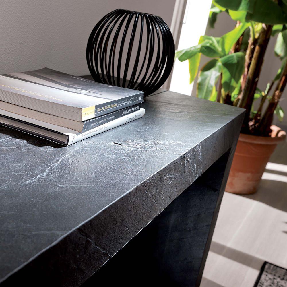 glass konsole aus mdf 100x43 cm verl ngerbar in verschiedenen ausf hrungen verf gbar. Black Bedroom Furniture Sets. Home Design Ideas