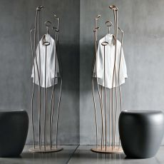 Alga 7416 - Tonin Casa design coat hanger made of lacquered metal, several colours available