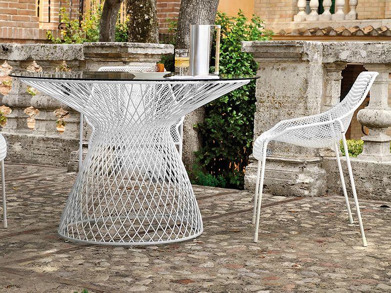 heaven t metalltisch emu runde platte von 80 oder 120 cm. Black Bedroom Furniture Sets. Home Design Ideas
