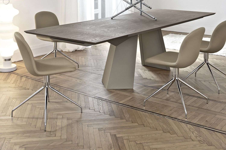 seventy gepolsterter stuhl bontempi casa drehbar mit zentralem standfu aus metall sitz aus. Black Bedroom Furniture Sets. Home Design Ideas