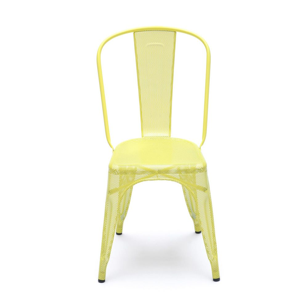 A chair p sedia tolix di design in metallo impilabile for Sedia di design