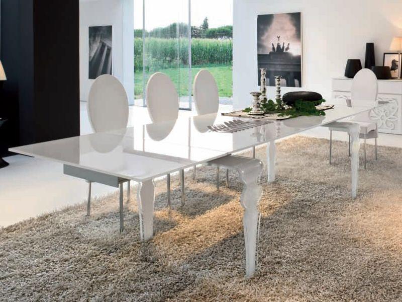 Vendome 8005 tavolo allungabile tonin casa in vetro for Misure tavolo