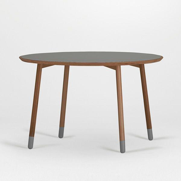 Stick t table fixe valsecchi en bois et plateau en for Table ronde 85