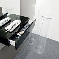 7095 Norha-T - Vaso Calligaris in vetro transparente, diverse misure disponibili