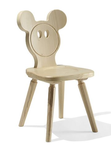 TC04 BABY | Sedia in legno di abete per bambino