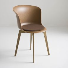 Epica Eco - Sedia di design in materiale riciclato legno-plastica, anche girevole, diversi colori disponibili