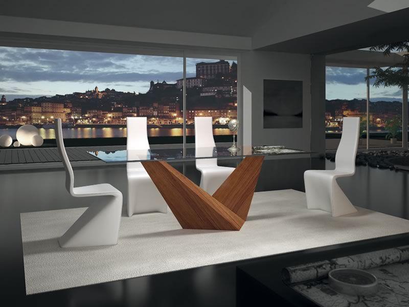 Arica design tisch mit glasplatte 210x100 cm fix for Design tisch outlet