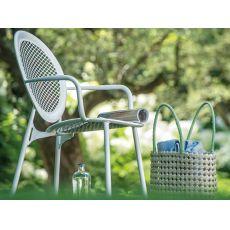Antonietta 3397 - Sedia Emu in metallo per giardino con braccioli, impilabile