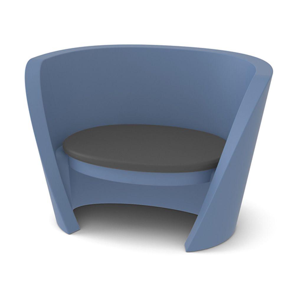 Rap chair fauteuil empilable slide en poly thyl ne - Coussin pour fauteuil exterieur ...