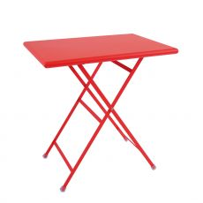 Arc En Ciel 334 - Metal table Emu, folding, available with top in several sizes and colours