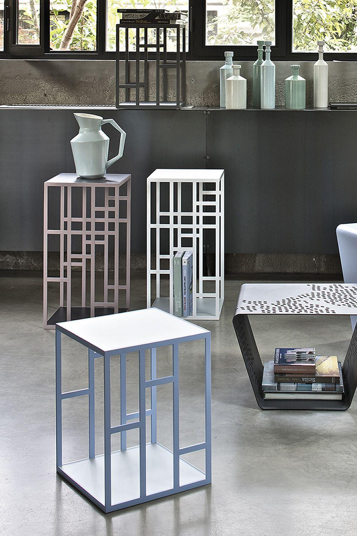Manhattan tavolino di desing bontempi casa con for Piani di casa in metallo