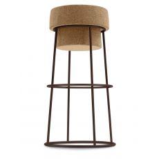 Bouchon - Barstuhl Domitalia aus Metall, mit Sitzfläche aus Kork, Sitzfläche auf 66 oder 76 cm
