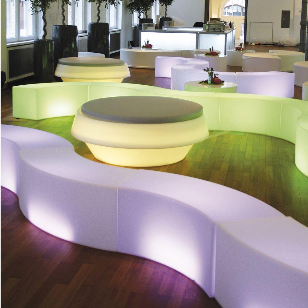 snake f r bars und restaurants modulsitzbank aus polyethylen mit beleuchtung oder aus weichem. Black Bedroom Furniture Sets. Home Design Ideas
