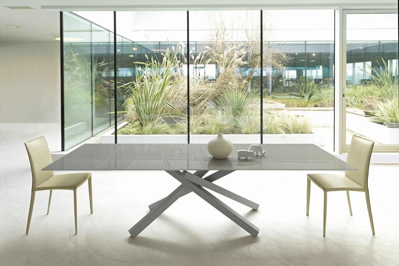 pechino a tavolo allungabile midj in metallo piano in legno o vetro diverse finiture. Black Bedroom Furniture Sets. Home Design Ideas