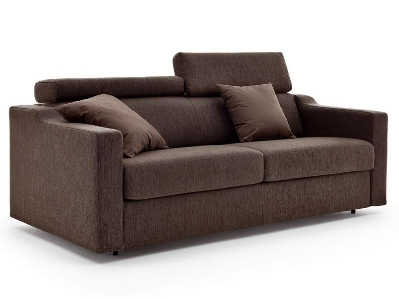 Eros divano letto moderno a 2 o 3 posti maxi con - Lunghezza divano 3 posti ...
