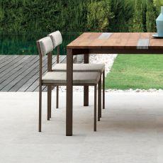 Casilda - S - Sedia design in metallo, con o senza braccioli, anche per giardino, disponibile in diversi colori