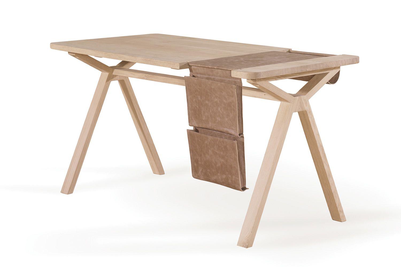 bolsa bureau de design en bois dot de sacoche porte documents int gr en cuir ou li ge. Black Bedroom Furniture Sets. Home Design Ideas