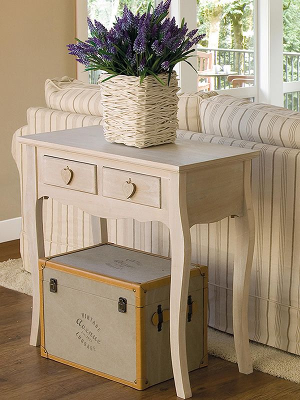 Ortigia 2 shabby chic consolle in wood 81x38 cm with for Consolle shabby chic
