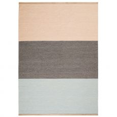Fields 3 - Rug in pure wool, two different colours available, leather edges, 170 X 240 cm
