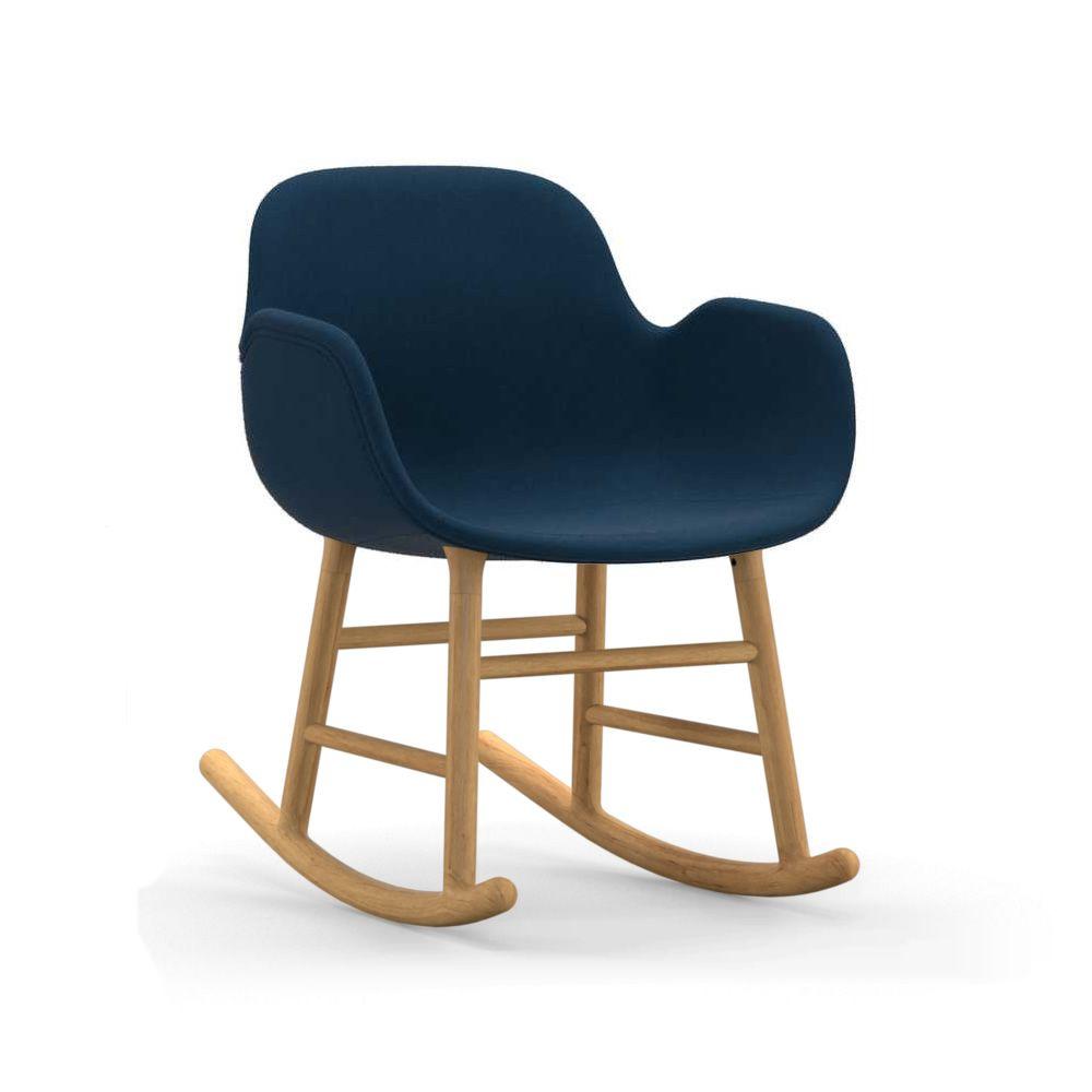 form r up fauteuil bascule normann copenhagen en bois assise rembourr e diff rents. Black Bedroom Furniture Sets. Home Design Ideas