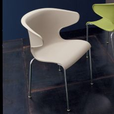Samba - Midj stackable chair made of metal and polypropylen, different colours available