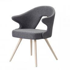 You 2803 - Poltroncina in legno, seduta e schienale imbottiti, disponibile in diversi colori