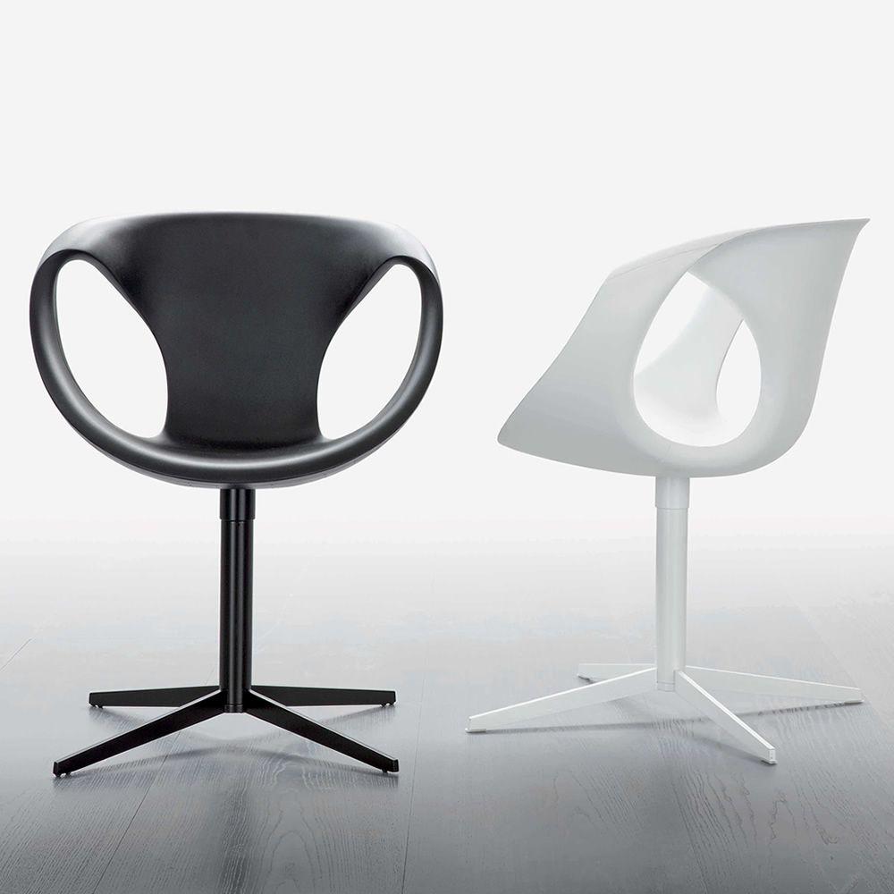 Up chair 2 chaise design de tonon pivotante en m tal et for Chaise pivotante design