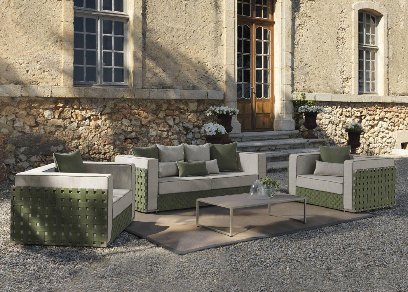 Lily Set: Designer Set für den Garten: 1 Sofa, 2 Sessel ...
