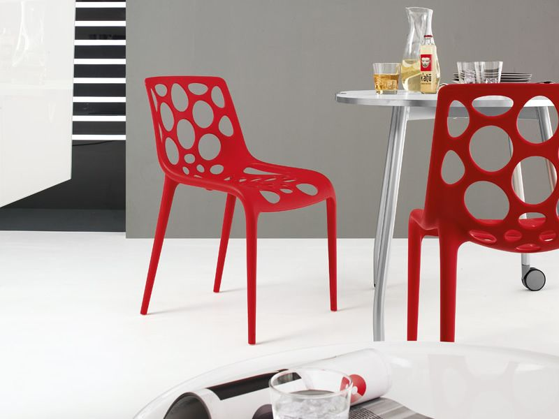 ... CB1085 Hero   Stackable Chairs Made Of Red Polypropylene ...