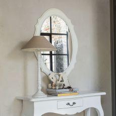 Carina 1508 - Specchio Tonin Casa con cornice classica in legno, diverse finiture disponibili