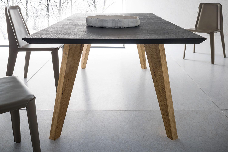 Artemidoro   tavolo di design in legno, 160x90 cm, fisso, piano in ...