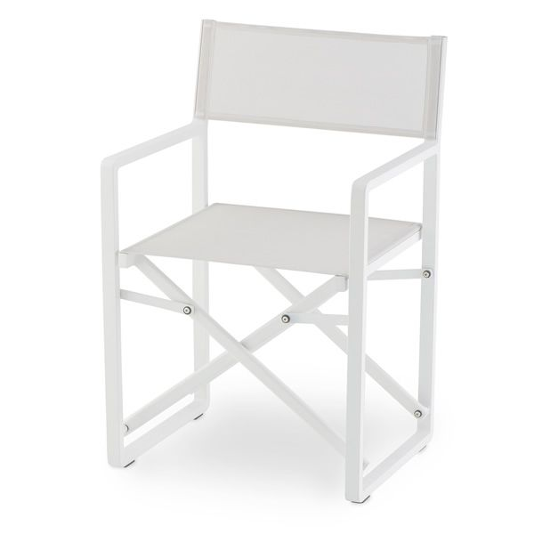 Missoni Home Outdoor Folding Chair Regista: Aluminium And Textilene Director Chair, Folding