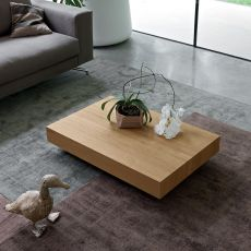 Cristallo - Dall'Agnese rectangular coffee table made of veneered wood, different colours available