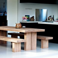 Double-T - Tavolo Ethnicraft in legno, diverse misure disponibili