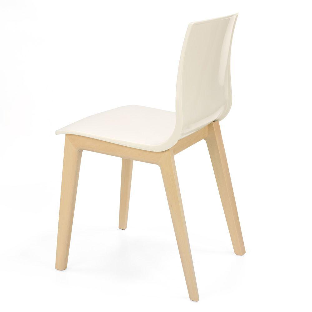 Smilla tec 2841 chaise moderne en bois de h tre assise for Assise de chaise en bois