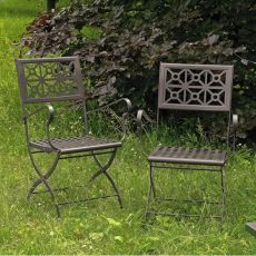 Isotta P 2501 - Folding steel chair, for garden