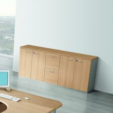Archivio 01 - Archiving cabinet with 4 doors and 2 removable classifiers, in laminate available in different finishes