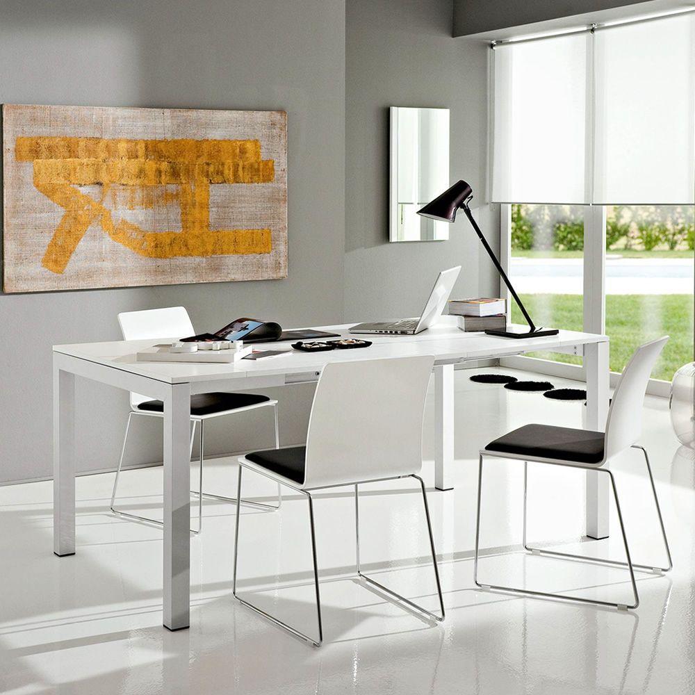 pa500 table console extensible en aluminium et plateau en lamin mesurant 46 5 x 100 cm. Black Bedroom Furniture Sets. Home Design Ideas