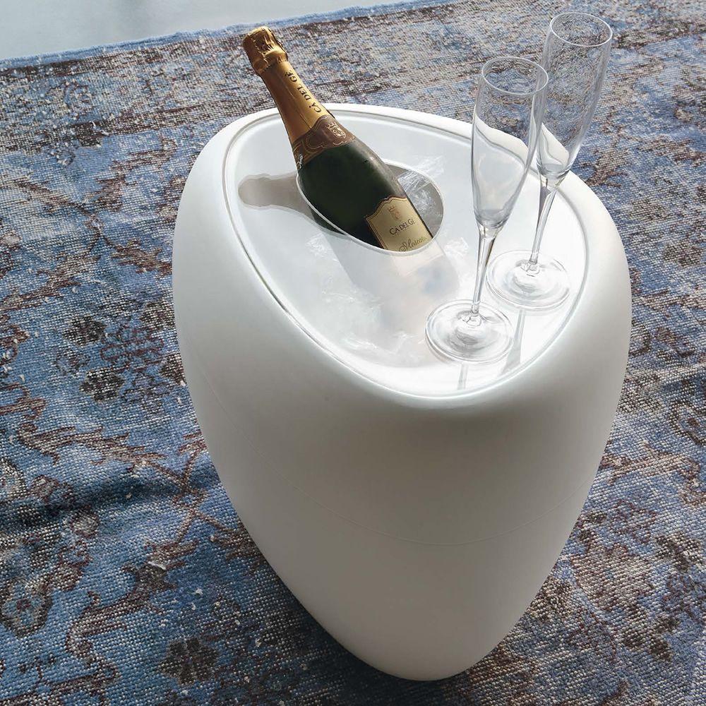Ios Pb 8191 White Polyethylene Coffee Table With Transpa Plexiglass Removable Top