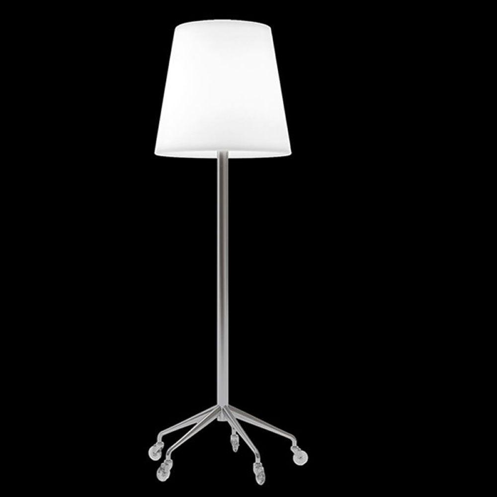 Roller lamp l mpara de pie slide en polietileno y metal con ruedas sediarreda - Lamparas de polietileno ...