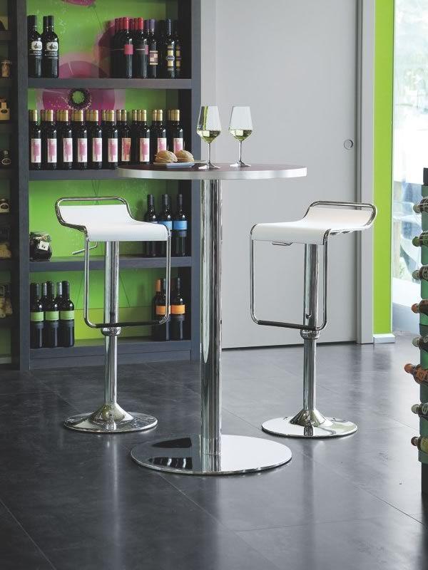 715 h tavolo alto con piano tondo in laminato diametro for Tavolo tondo alto