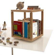 Zia Babele Tr - Sistema componibile di design, girevole, in legno di rovere naturale, disponibile in diverse dimensioni