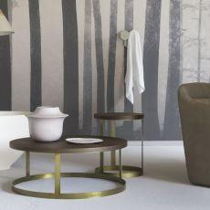 Zero - Tavolino Miniforms in metallo, con piano in legno, disponibile in diverse misure