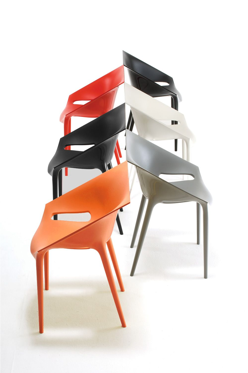 Dr yes fauteuil design kartell empilable en for Chaise design empilable